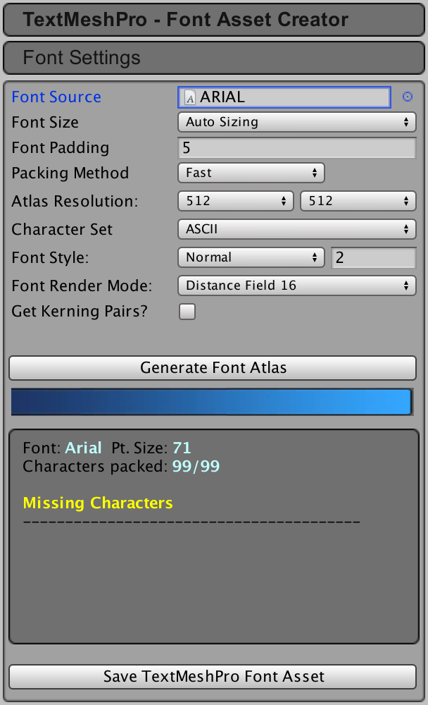 Font, TextMesh Pro Documentation